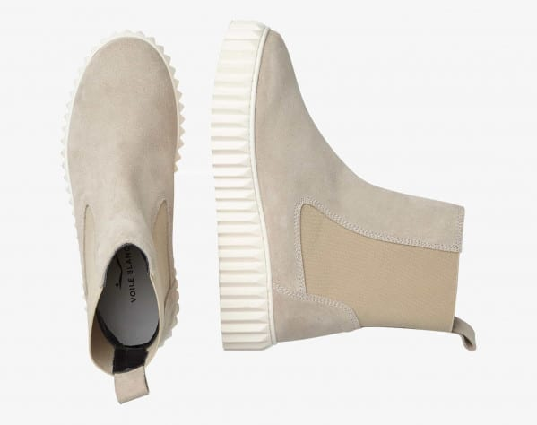 BETH - Suede ankle boots - Ivory