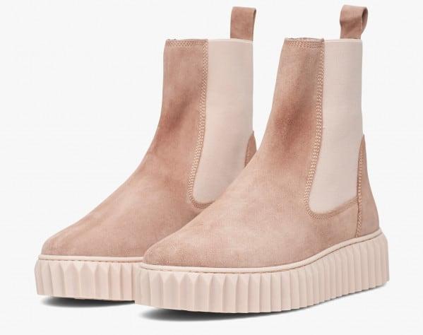 BETH - Suede ankleboot - Pink