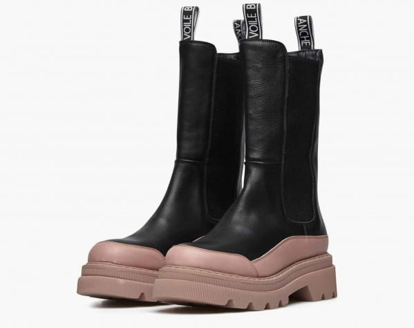 MELBA - High Chelsea boots - Pink/Black