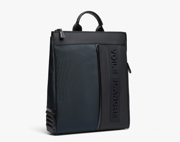 JUSTIN - City backpack with handle - Blue-Black