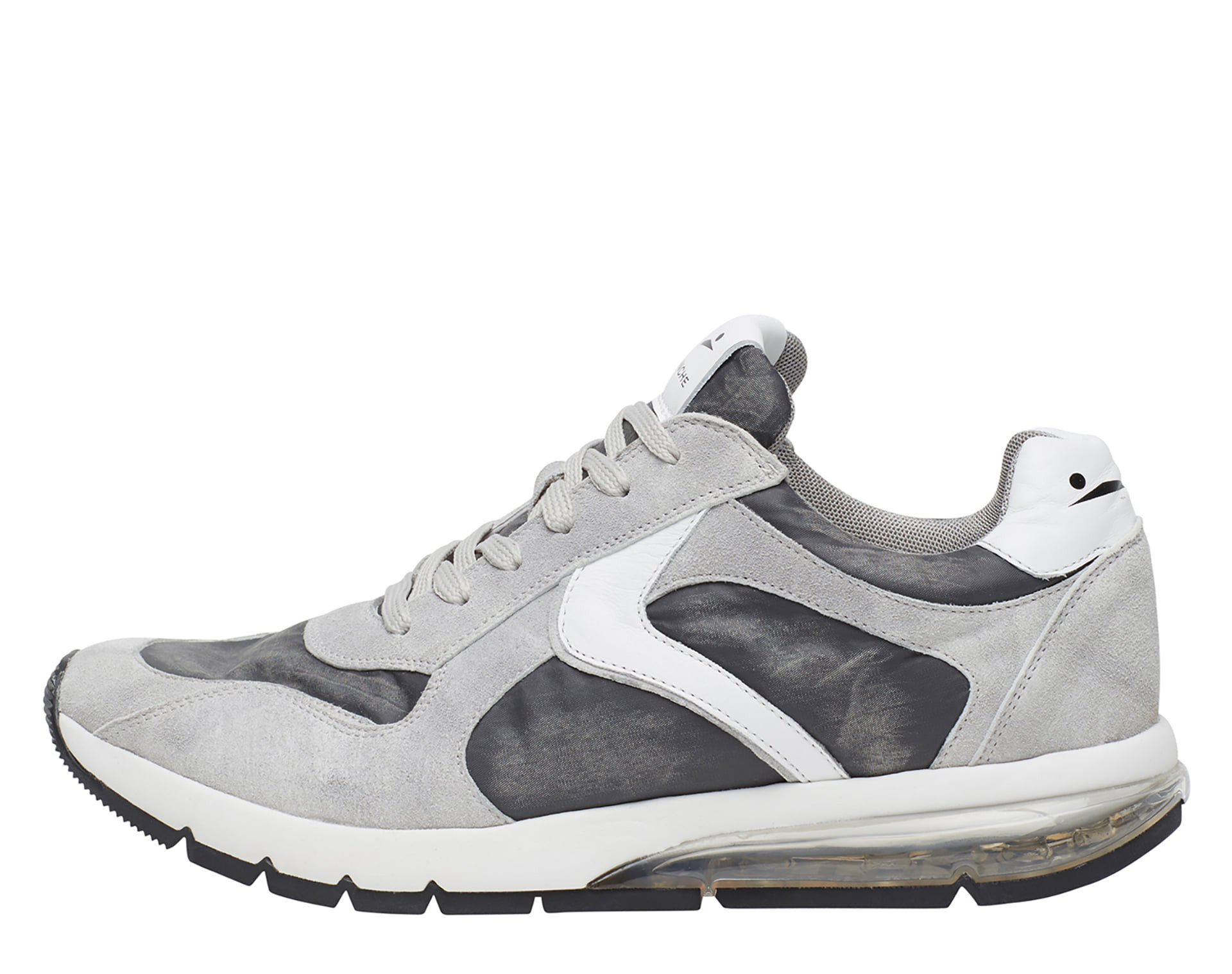 ARGO - Leather and nylon sneakers - Ice grey