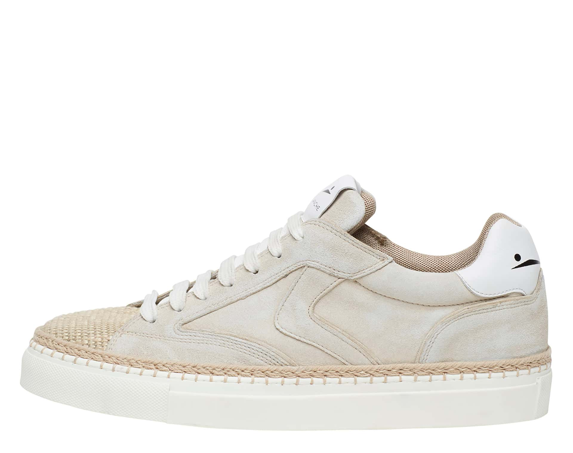 NEW ISCHIA - Leather and rope sneakers - Powder pink