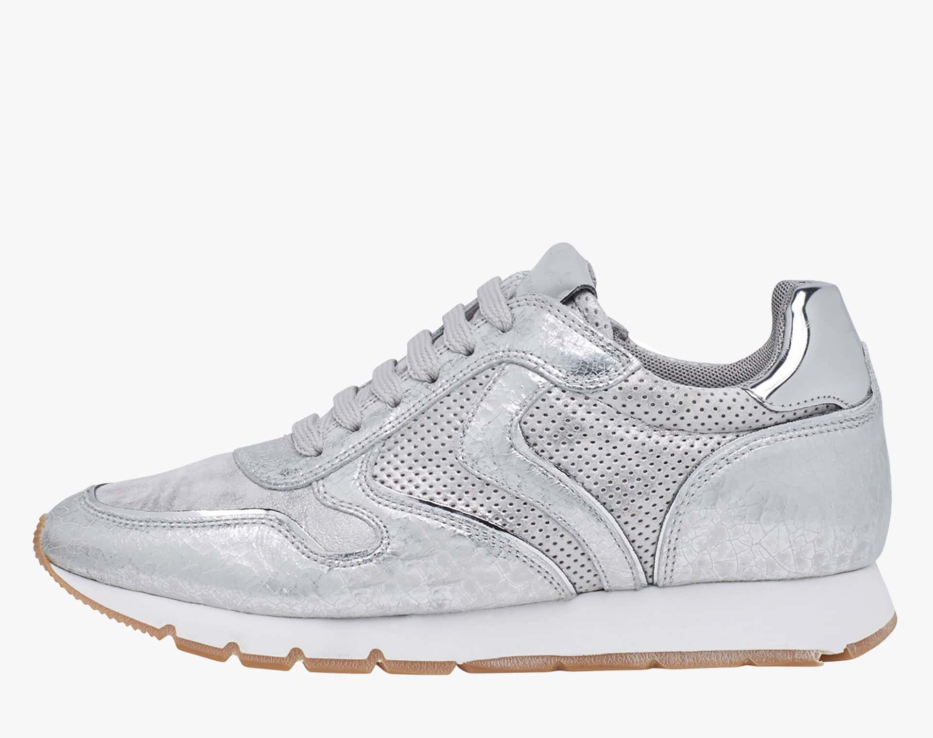 JULIA - Leather sneakers - Silver