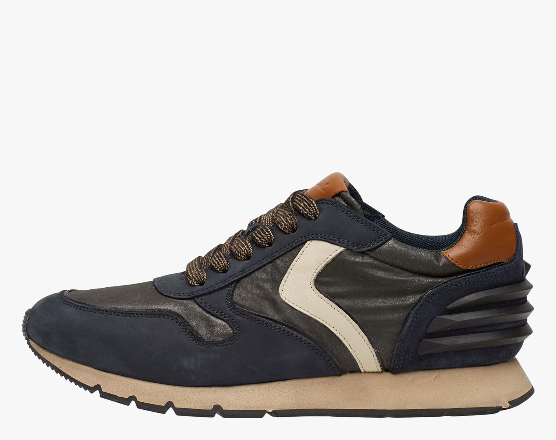 LIAM POWER - Leather sneakers - BLUE-BLACK-DENIM BLUE