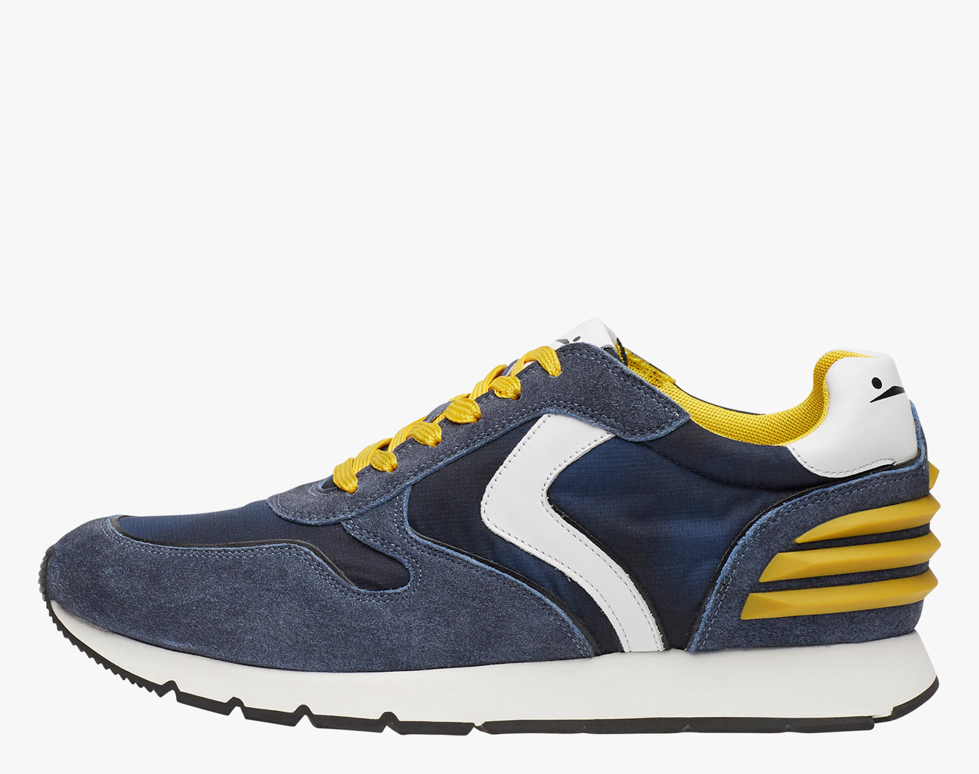 LIAM POWER - Leather sneakers - BLUE-WHITE