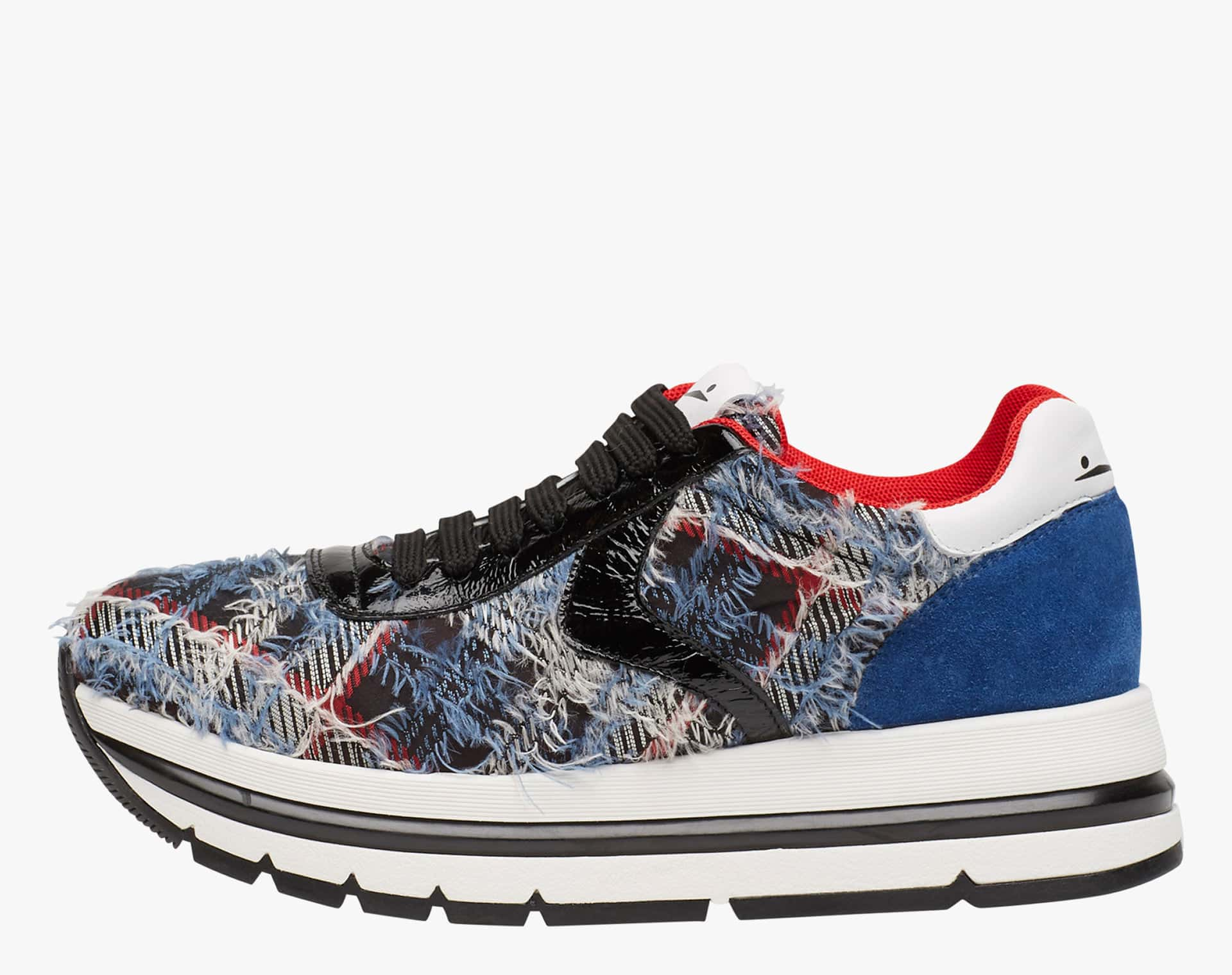 APRILLE EASY - Sneakers in leather and nylon - Light Blue-White-Cornflower Blue