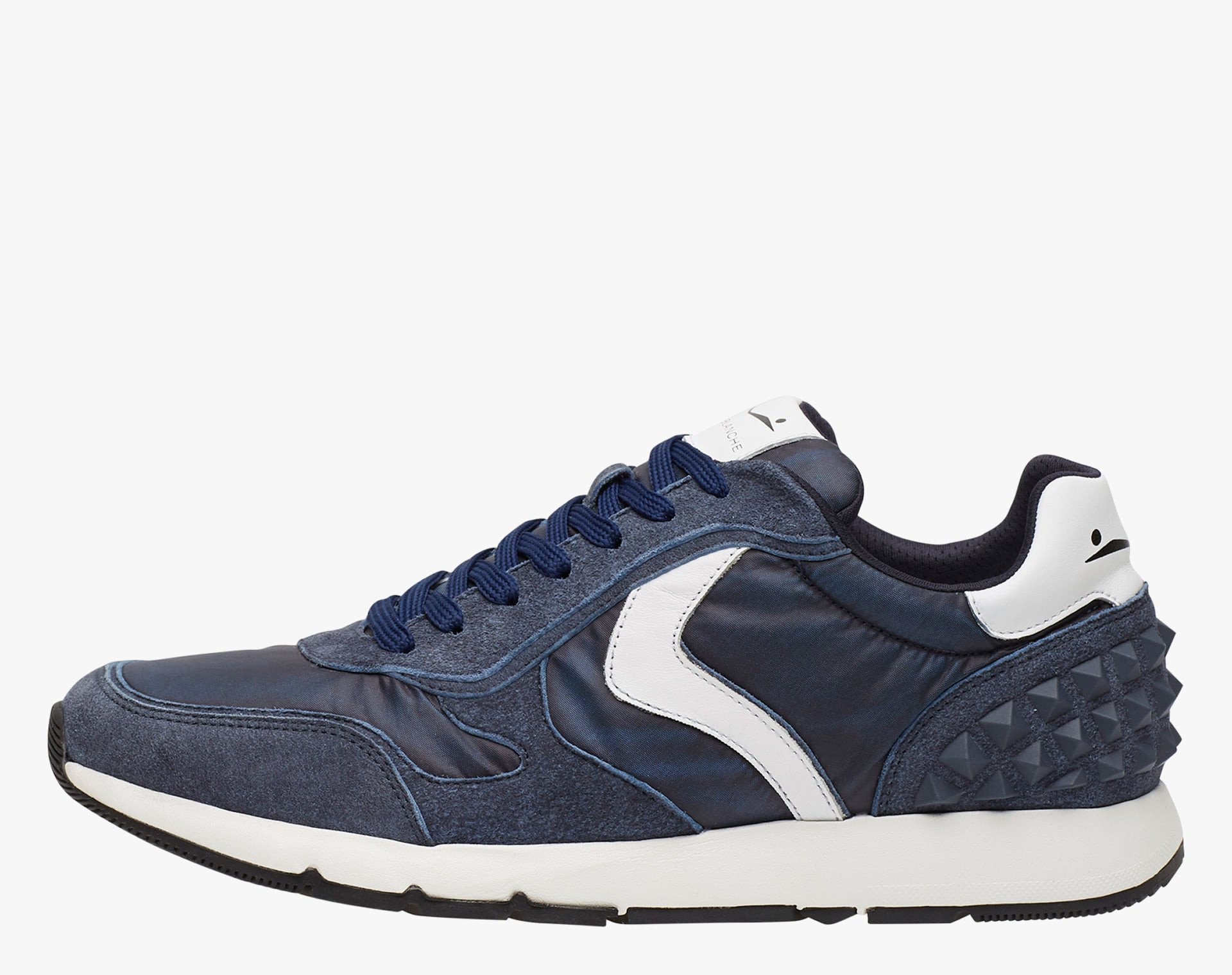 REUBENT STUDS - Sneakers in leather and nylon - Blue-White