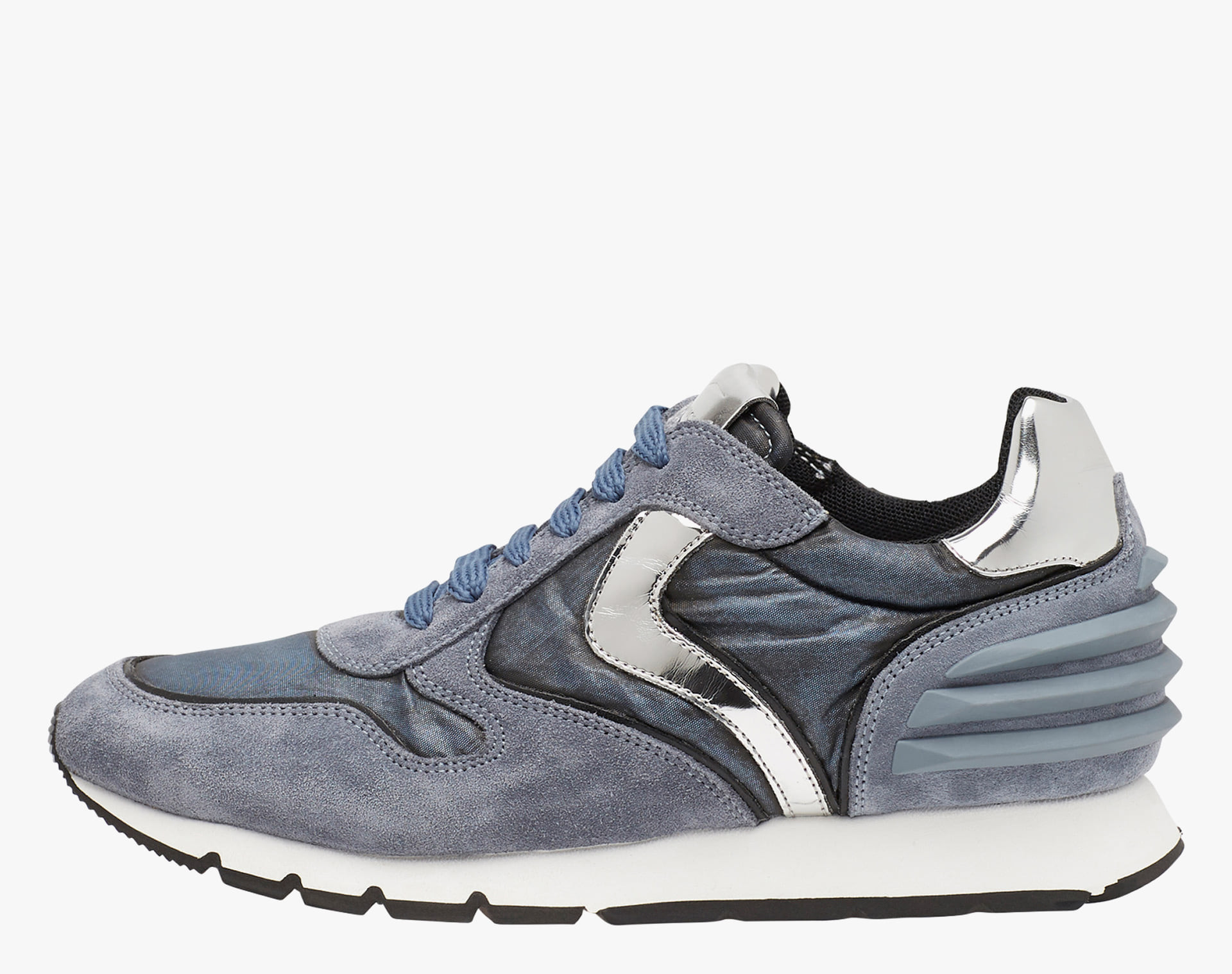 JULIA POWER - Sneakers in leather and nylon - DENIM-BLUE