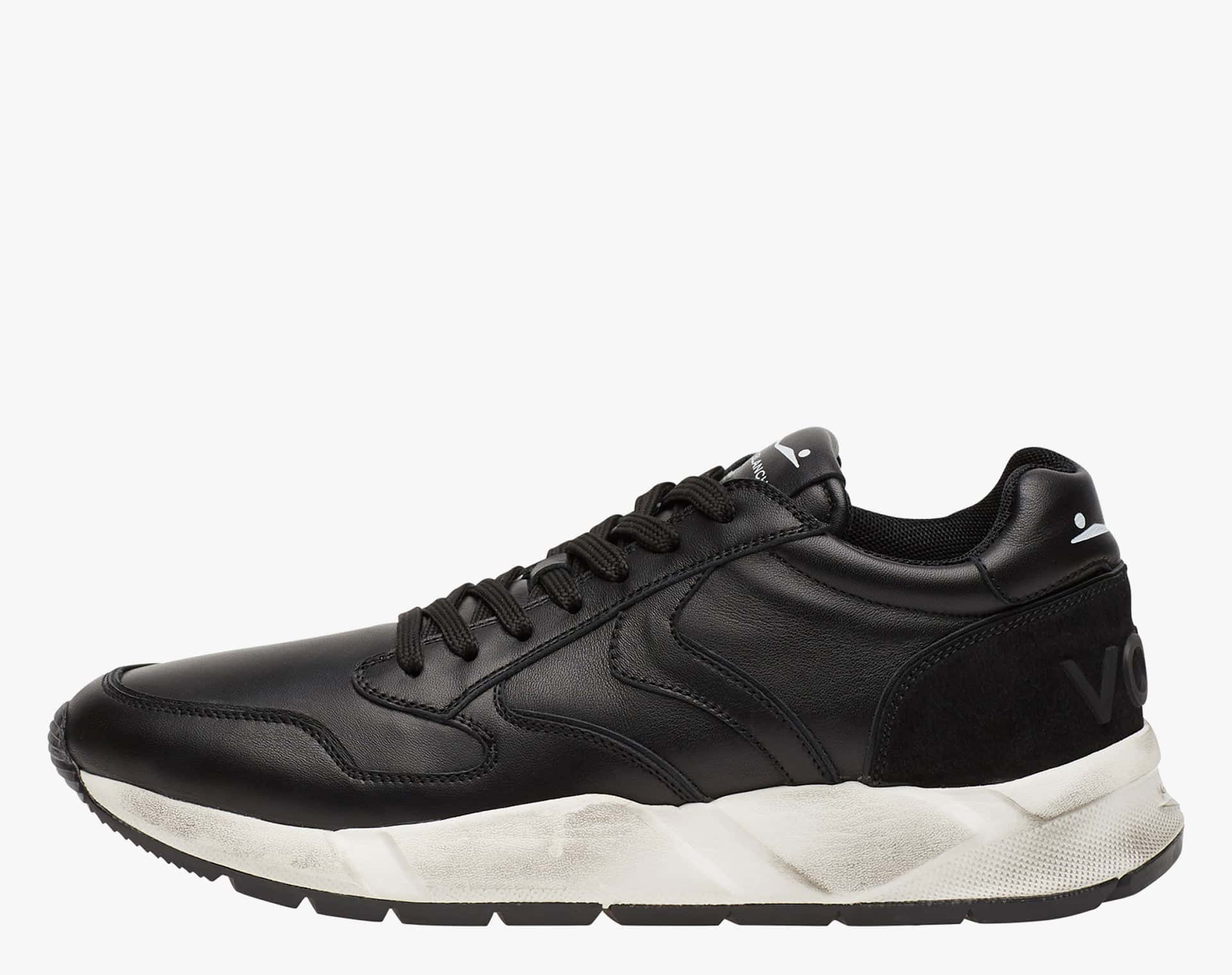 ARPOLH - Leather sneakers - DIRTIED CALFSKIN