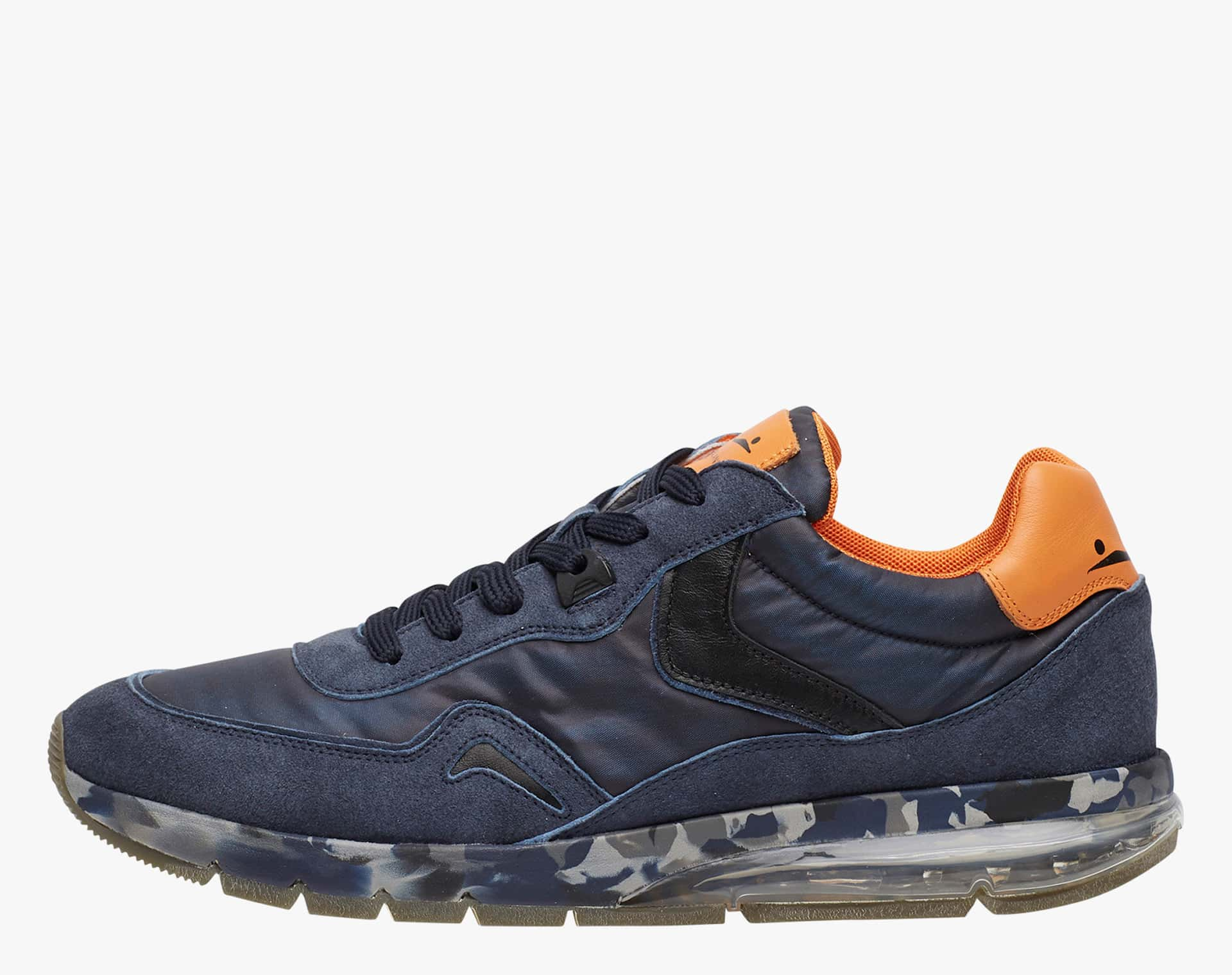 ENDAVOUR - Sneakers in leather and nylon - Blue-Black
