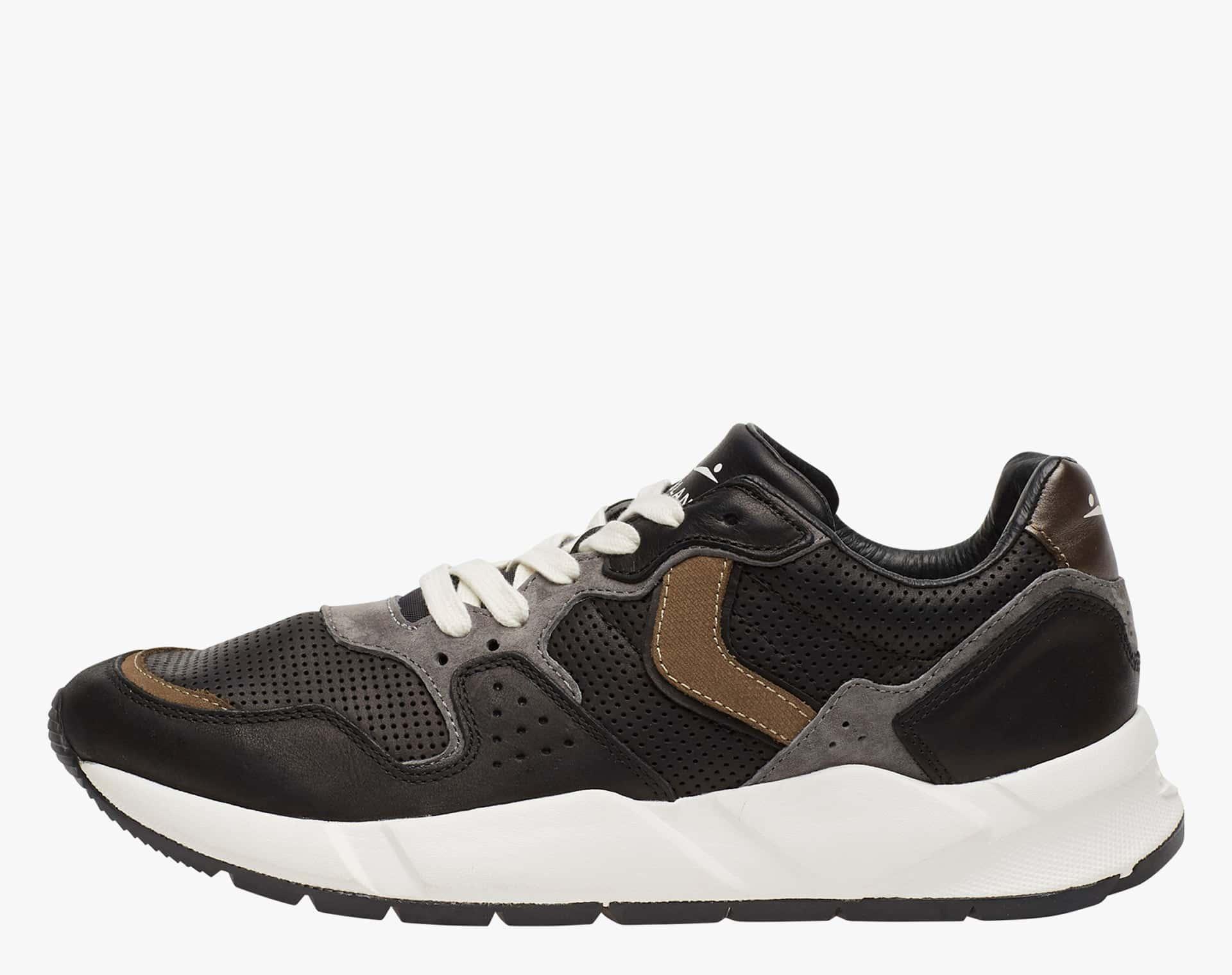 MAMBA - Leather sneakers - BLACK