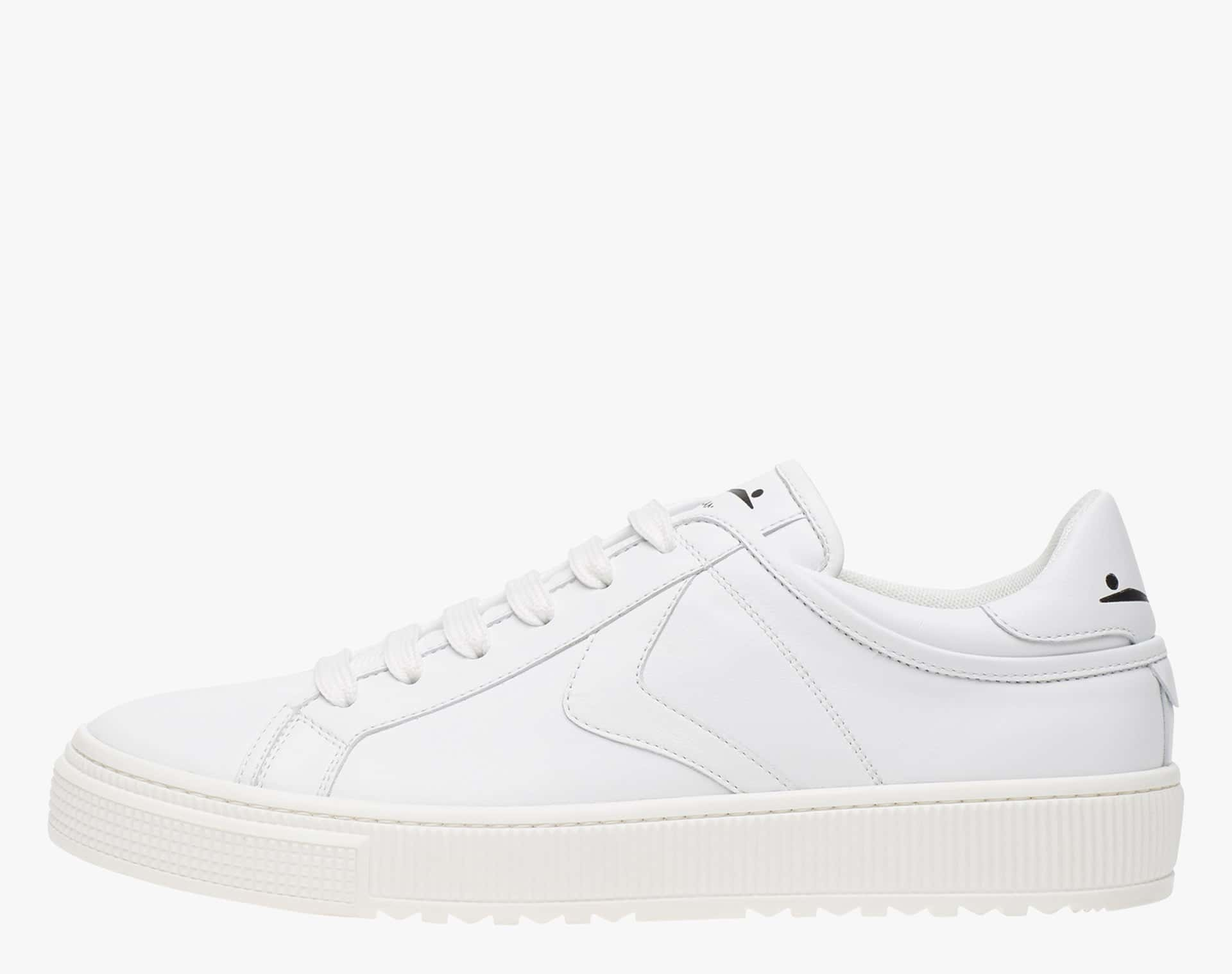 FIT - Nappa leather sneakers with contrasting profiles - White