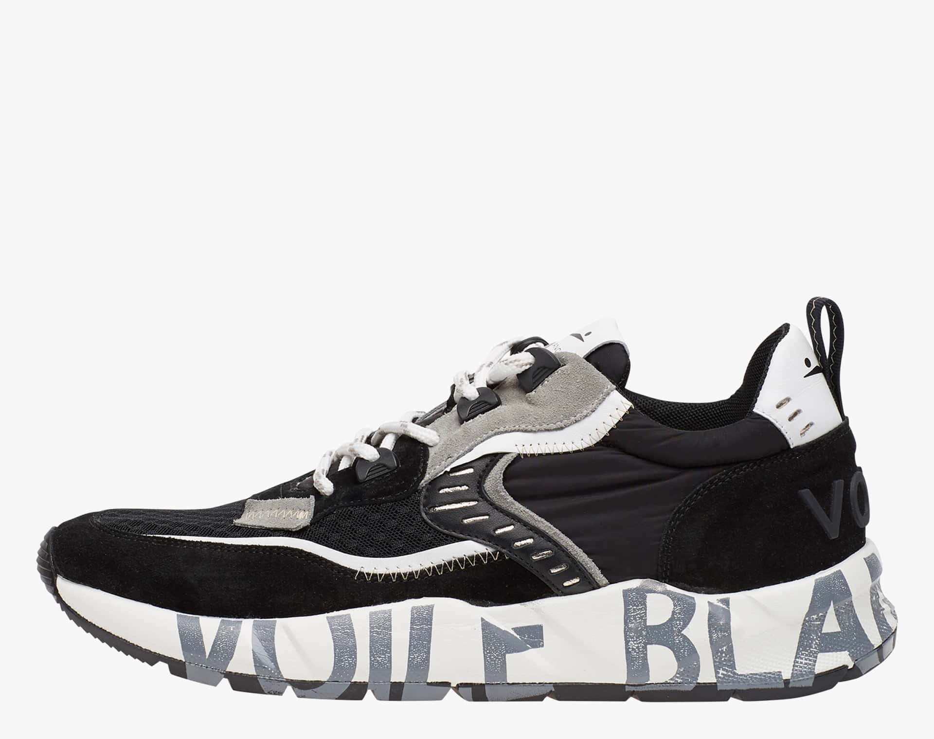 CLUB01 - Suede and technical fabric sneakers - Black