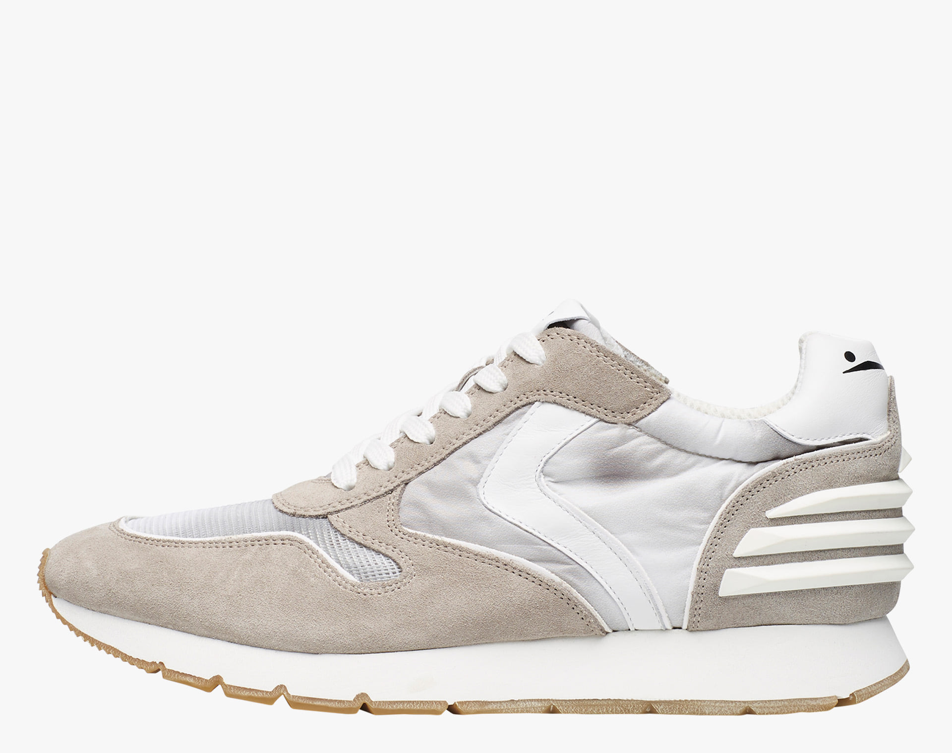 LIAM POWER - Sneaker in vintage suede, technical nylon and micro mesh - Gray