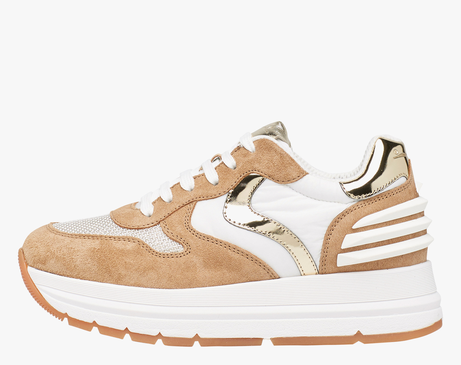 MARAN POWER - Sneaker in suede and technical fabric - Multicolour