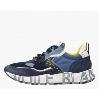 CLUB01 - Suede and technical fabric sneakers - Blue