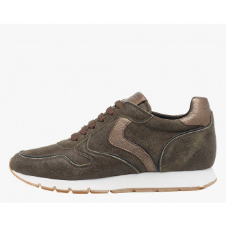 JULIA - Leather sneakers - Military grey