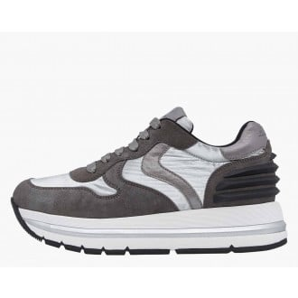 MARAN POWER - Suede and coated fabric sneakers - Grey