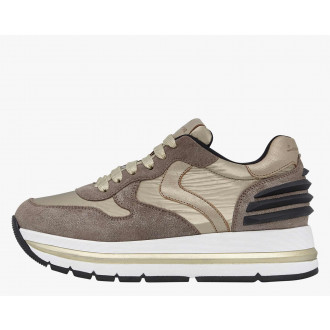 MARAN POWER - Suede and coated fabric sneakers - Platinum